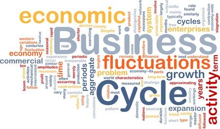 ciclos: Ilustraci�n de wordcloud concepto de fondo del ciclo de negocios