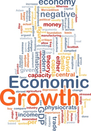 critique: Background concept wordcloud illustration of economic growth