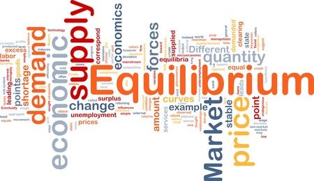Background concept wordcloud illustration of equilibrium Stock Illustration - 9464605