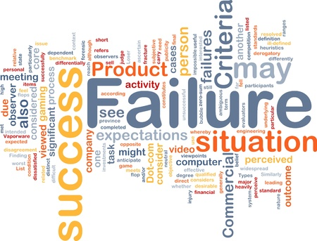 benchmark: Background concept wordcloud illustration of failure Stock Photo