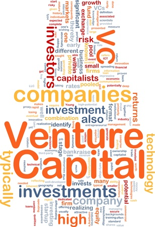 venture: Background concept wordcloud illustration of venture capital Stock Photo