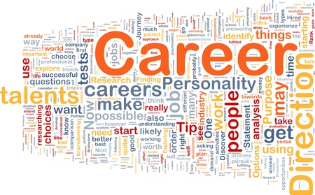 identify: Background concept wordcloud illustration of career