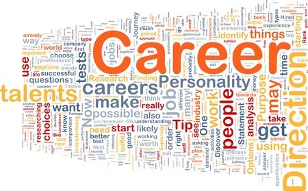 get: Background concept wordcloud illustration of career