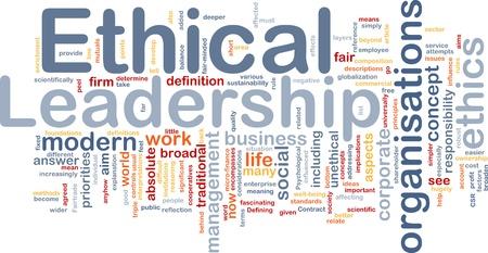 f�hrung: Hintergrund Konzept Wordcloud Abbildung der ethischen F�hrung