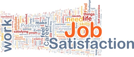 intention: Background concept wordcloud illustration of job satisfaction