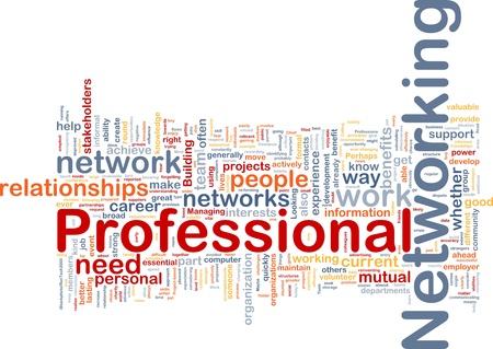 networking people: Ilustraci�n de wordcloud concepto de fondo de las redes profesionales Foto de archivo