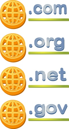 Internet website www domain url name extensions com gov org net photo
