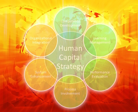 Human capital business diagram management strategy concept chart illustration Stock Illustration - 9504355