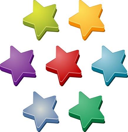Stars icon multicolored clipart illustration symbol set illustration