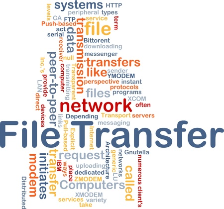 pc: Background concept wordcloud illustration of file transfer