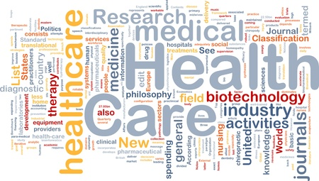 Background concept wordcloud illustration of health care illustration