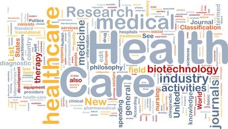 Background concept wordcloud illustration of health care illustration