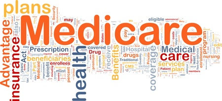disability insurance: Background concept wordcloud illustration of medicare