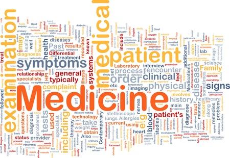 Background concept wordcloud illustration of medicine illustration
