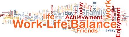 Background concept wordcloud illustration of work-life balance illustration