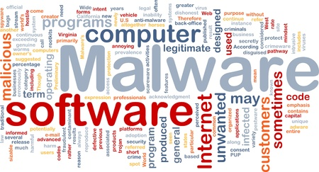 unwanted: Background concept wordcloud illustration of malware