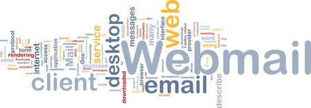 webmail: Background concept wordcloud illustration of webmail