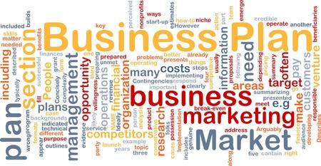 plan de accion: Ilustraci�n de wordcloud concepto de fondo de plan de negocios