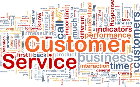 responded: Background concept wordcloud illustration of customer service Stock Photo