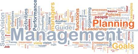 Background concept wordcloud illustration of management illustration
