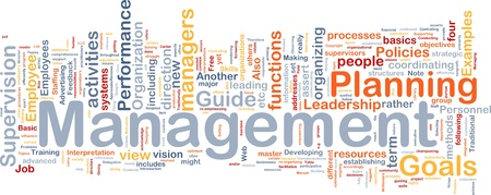 supervision: Background concept wordcloud illustration of management