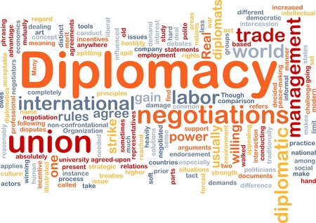 absolute: Background concept wordcloud illustration of diplomacy Stock Photo