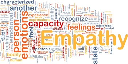 recognize: Background concept wordcloud illustration of empathy  Stock Photo