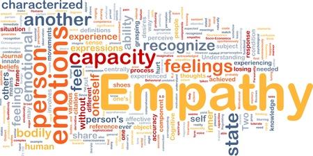 wiedererkennen: Wordcloud Hintergrund Konzept der Empathie
