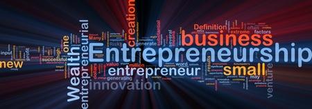 entrepreneur: Background concept illustration of business entrepreneurship entrepreneur glowing light