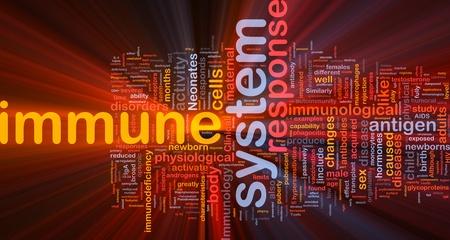hormonas: Ilustración de concepto de fondo luz brillante de salud sistema inmunitario
