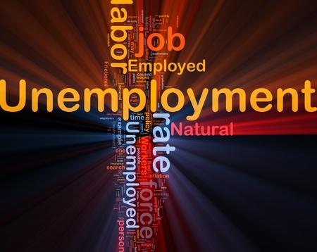 unemployment rate: Background concept illustration unemployment job labor glowing light