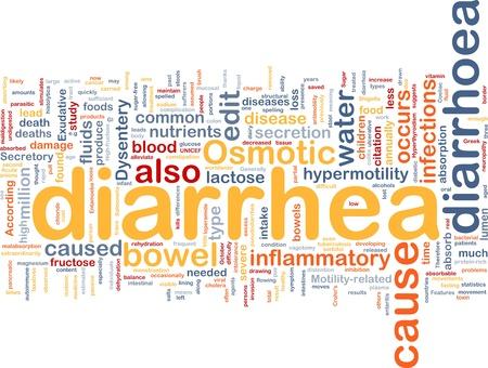 osmotic: Background concept wordcloud illustration of diarrhea diarrhoea Stock Photo