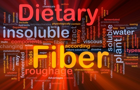 dietary fiber: Background concept wordcloud illustration of dietary fiber glowing light Stock Photo