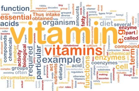 nutrients: Ilustraci�n de wordcloud concepto de fondo de nutrientes de salud vitamnins Foto de archivo