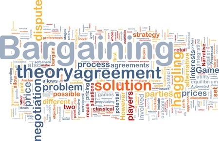 haggling: Background concept wordcloud illustration of bargaining
