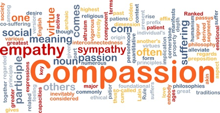 virtue: Background concept wordcloud illustration of compassion