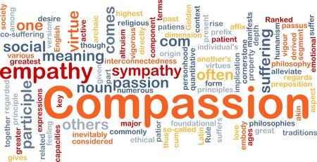 humanisme: Notion de base wordcloud illustration de la compassion