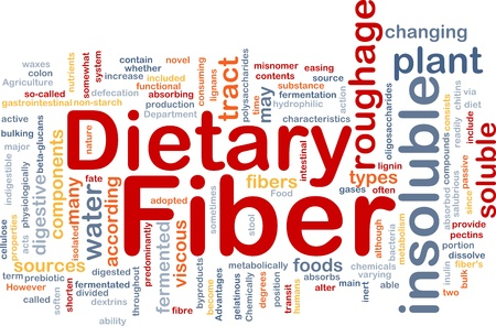 insoluble: Background concept wordcloud illustration of dietary fiber Stock Photo