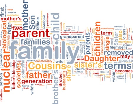 Background concept wordcloud illustration of family Stock Illustration - 9914700