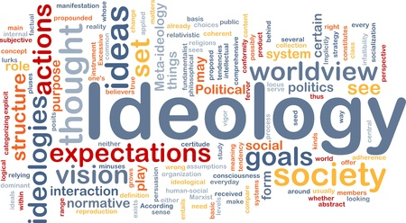 Background concept wordcloud illustration of ideology illustration