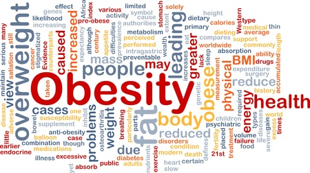 excess: Background concept wordcloud illustration of obesity fat overweight Stock Photo
