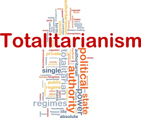 totalitarianism: Background concept wordcloud illustration of totalitarianism