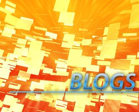 Blogs internet online website abstract concept illustration illustration