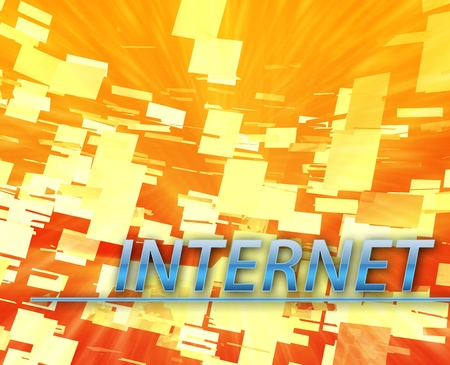 Technology internet online web communication abstract concept illustration illustration