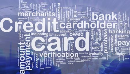 Word cloud concept illustration of credit card international illustration