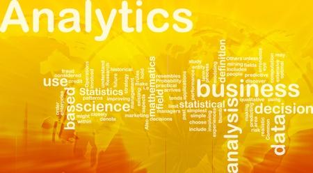 predictive: Sfondo illustrazione concetto di business analytics analisi internazionali
