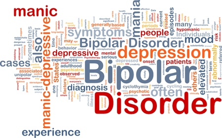 behaviors: Background concept wordcloud illustration of bipolar disorder