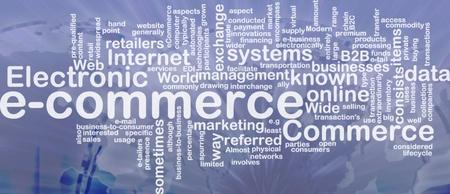 Word cloud concept illustration of e-commerce electronic commerce international Stock Illustration - 9914720