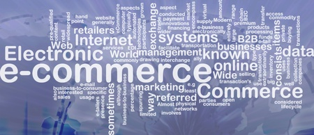 echange: Word cloud concept illustration of e-commerce electronic commerce international Stock Photo