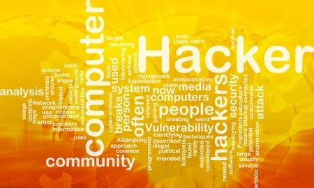 computer attack: Background concept illustration of computer hacker attack international